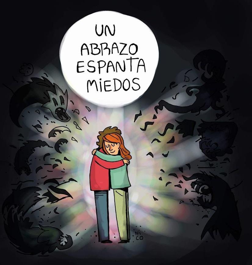 un abrazo espanta miedos